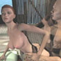 Busty 3d animated girl gets fucked doggy style
